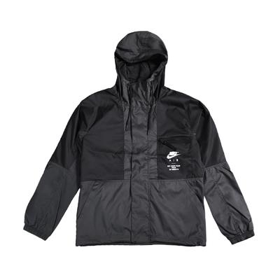 Nike 外套 AIR Woven LND Jacket 男款 防潑水 梭織 透氣 彈性袖口 寬鬆 黑 白 DD6443-010