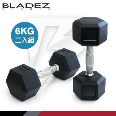 【BLADEZ】六角包膠啞鈴-6KG(二入組)