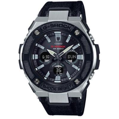 G-SHOCK 絕對強悍太陽能電力雙顯錶-黑(GST-S330AC-1A)/55.9mm