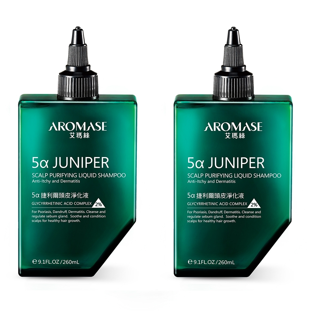 AROMASE艾瑪絲 2%5α捷利爾頭皮淨化液-無涼 260mLx2入