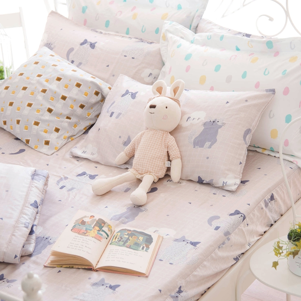 OLIVIA  PUSSY  標準雙人床包美式枕套三件組 230織天絲TM萊賽爾 台灣製