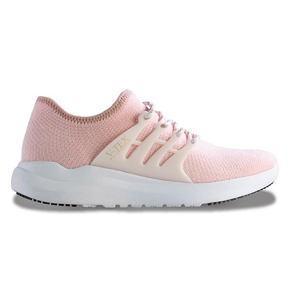 V-TEX 時尚針織耐水鞋/防水鞋 地表最強耐水透濕鞋-萌粉白(女)