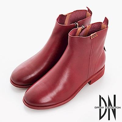 DN 百搭率性 鞋頭擦色2WAY牛皮短靴-紅