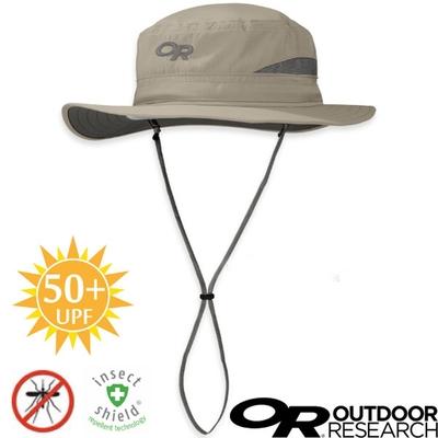 Outdoor Research 輕量抗UV防蟲驅蚊中盤帽.圓盤帽UPF 50+_卡其