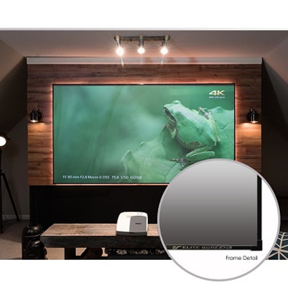 Elite Screens億立銀幕120吋16:9超短焦專用抗光幕1.1邊框AR120H3-CLR