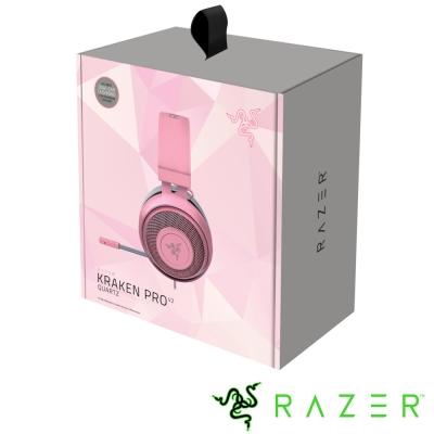 Razer Kraken Pro V2 Quartz 北海巨妖專業版 電競耳機(粉)