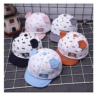 童趣春夏卡通貓咪棉質休閒棒球帽-三色可選