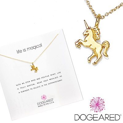 Dogeared 許願項鍊 金色獨角獸Life s magical unicorn附原廠盒