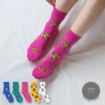 阿華有事嗎  韓國襪子 滿版食物寶寶中筒襪  韓妞必備 正韓百搭純棉襪