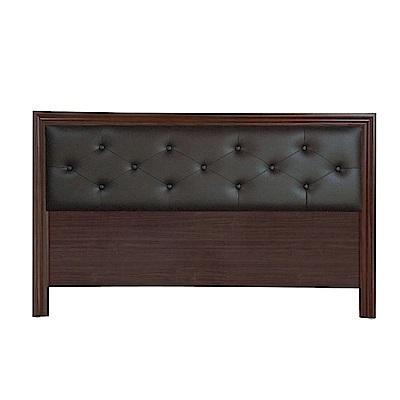 綠活居 多利爾5尺皮革雙人床頭片(三色可選)-154.1x2.1x93.3cm免組