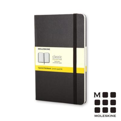 MOLESKINE 經典黑色硬殼筆記本(口袋型)-方格