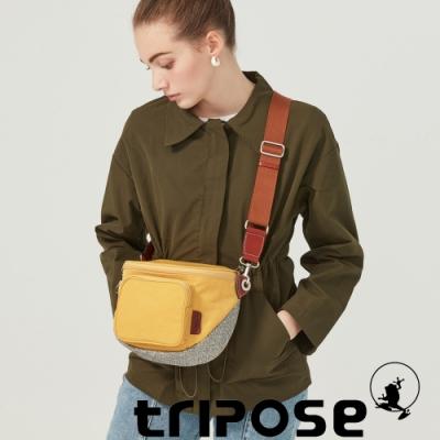 tripose 漫遊系列岩紋斜背腰包 活力黃