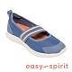 Easy Spirit-seACASIA3-A 時尚輕量鬆緊綁帶娃娃鞋-藍色 product thumbnail 1