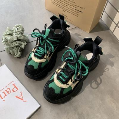 韓國KW美鞋館 學院好感百搭老爹鞋-綠