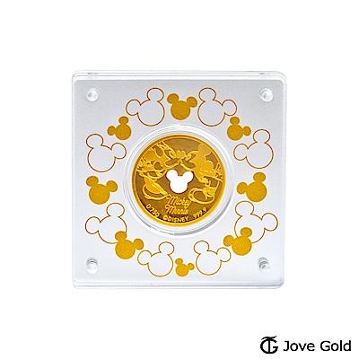 Disney迪士尼金飾 迪士尼經典鎖片金幣-0.20錢