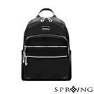 SPRING-未來系列尼龍多收納後背包-A4可-經典黑