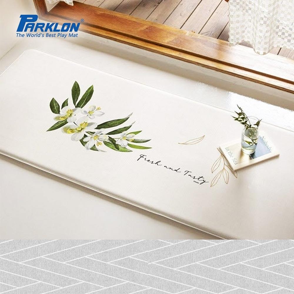 【PARKLON】韓國帕龍頂級壓花款雙面多功能墊厚1.5CM -小清新綠葉