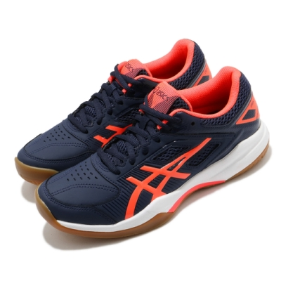 Asics 羽球鞋 Gel Court Hunter 女鞋 亞瑟士 高抓地力 緩震 耐磨 膠底 藍 紅 1072A015420
