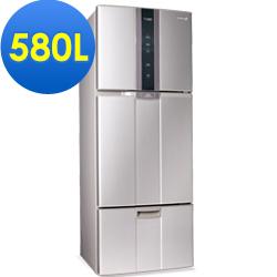 【福利品】SAMPO 聲寶 580L變頻三門冰箱SR-A58DV(R6) 紫燦銀