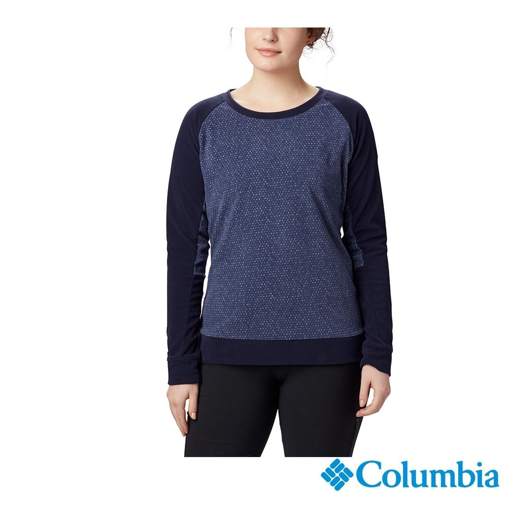 Columbia 哥倫比亞  女款-刷毛長袖上衣-深藍 UAK10820NY