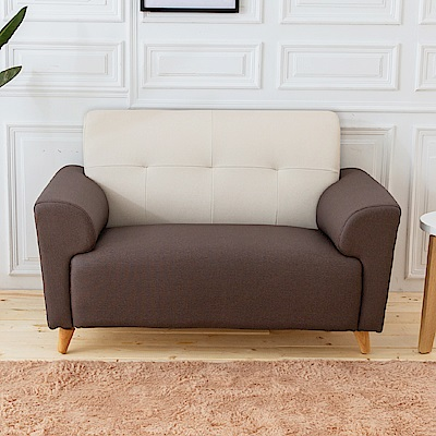 時尚屋 布萊茲雙人座雙色透氣貓抓皮沙發 (共3色)