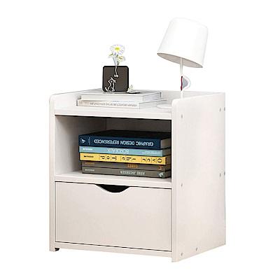 【Incare】DIY組裝-雙層收納簡約時尚床邊櫃(3色可選)