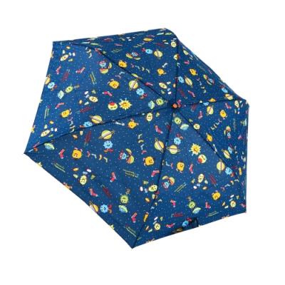 RAINSTORY怪獸PARTY(藍)抗UV手開輕細口紅傘