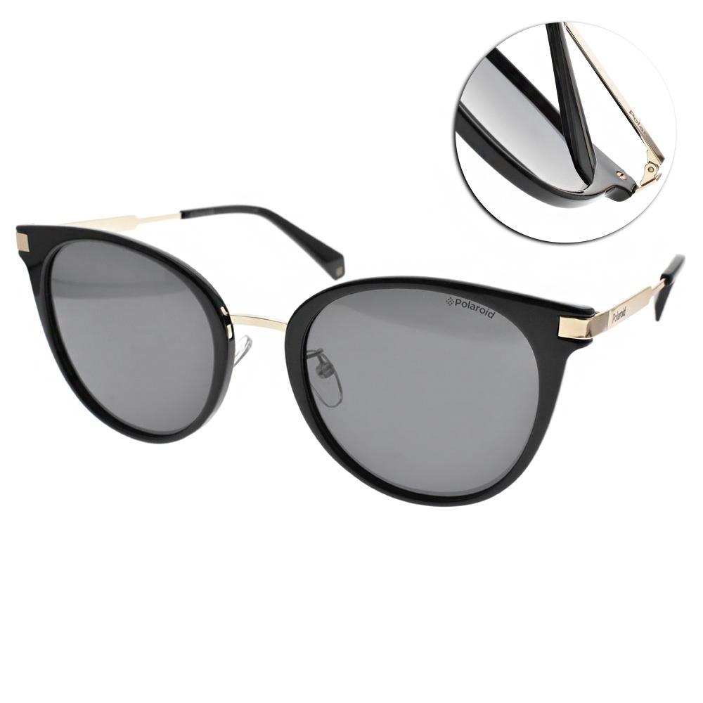 Polaroid 偏光太陽眼鏡 誘惑小貓眼款/黑金 #PLD6061FS 807M9