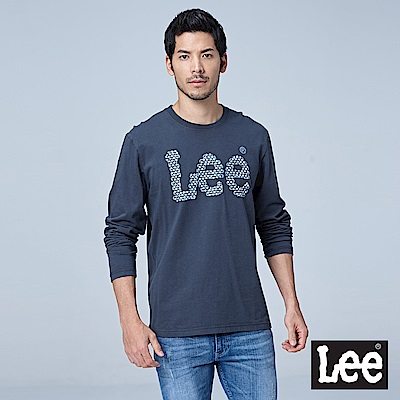 Lee 編織LOGO長袖圓領Tee