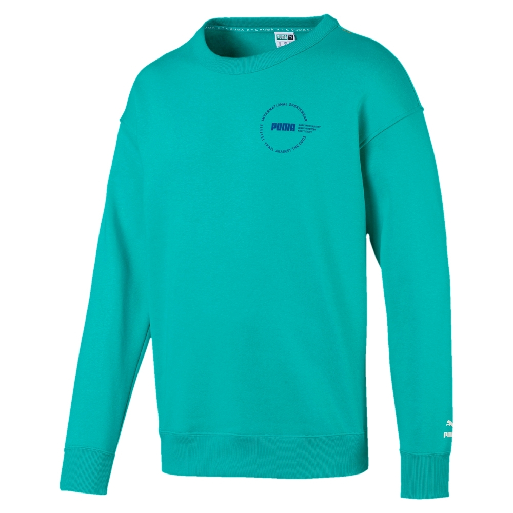 PUMA-男性流行系列XTG Trail圓領衫-土耳其藍-歐規