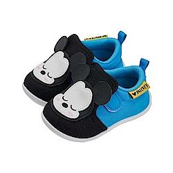 迪士尼童鞋 米奇 經典睡覺寶寶 學步鞋-藍