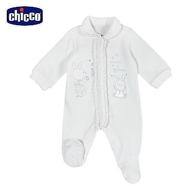 chicco-星空熊系列-剪毛絨有領荷葉前開兔裝-米(3-12個月)