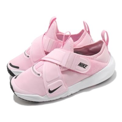 Nike 慢跑鞋 Flex Advance 運動 童鞋 輕量 透氣 舒適 魔鬼氈 中童 穿搭 粉 白 CZ0186600