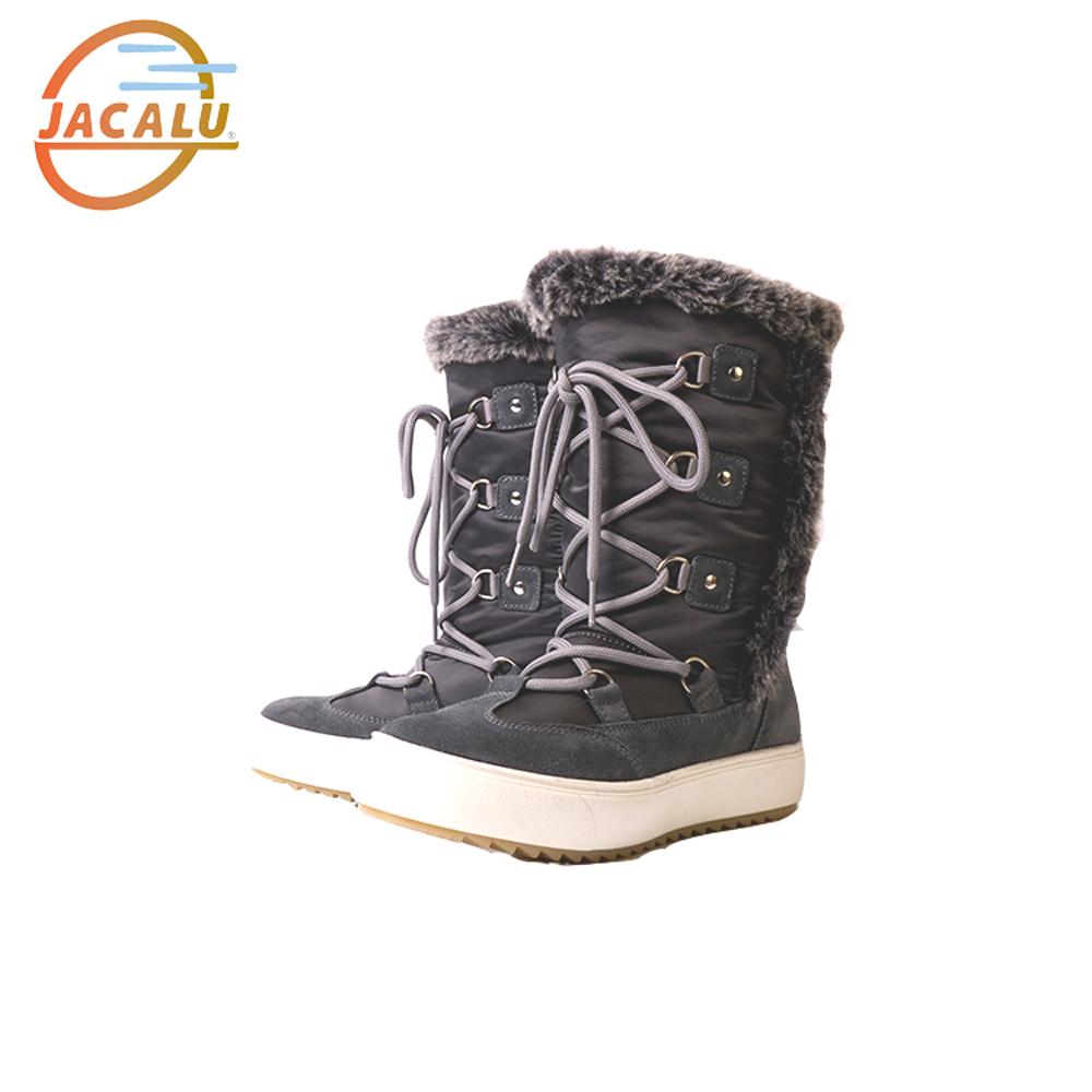Jacalu 高筒布面雪靴2742.4/J 灰色