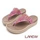 LA NEW Bio DCS 編織風格配色夾腳拖鞋(女225080251) product thumbnail 1