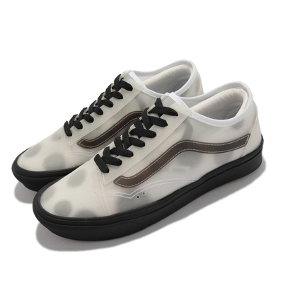 Vans 休閒鞋 Comfycush Slip Sk 女鞋 透視感 點點 半透明 膠底 抓地 耐磨 白 黑 VN0A4P3E2RB