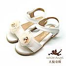 天使童鞋  精緻水鑽茶花涼鞋 J8010-06 白