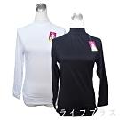 女用輕磨毛保暖衣-立領-W370-黑色/白色-4件入