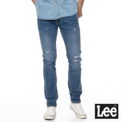 Lee 牛仔褲 709 低腰合身小直筒 男 中藍 彈性