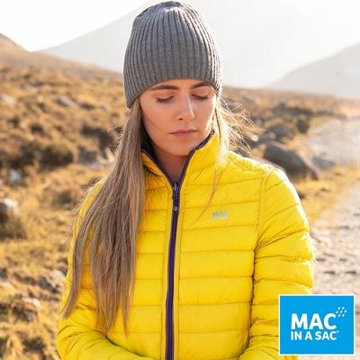 【MAC IN A SAC】女款輕暖袋著走雙面羽絨外套LDS207黃紫/輕量保暖/收納體積小