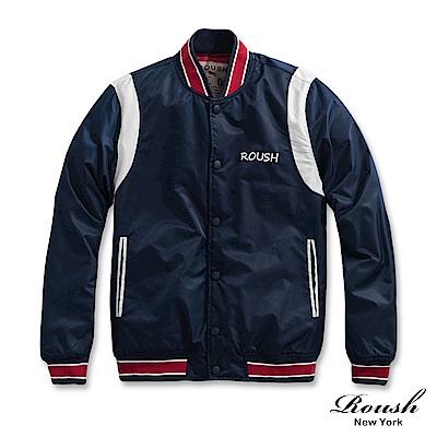 Roush 美式復古風格鋪棉棒球外套(<b>2</b>色)