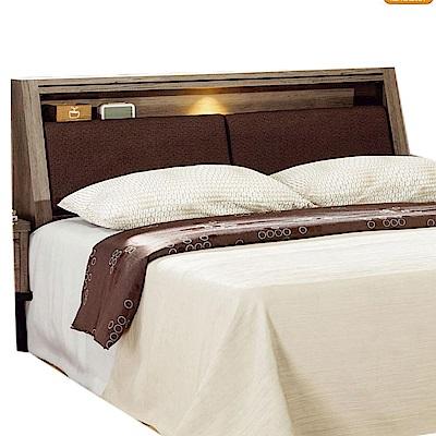 綠活居 波利時尚6尺耐磨皮革雙人加大床頭箱-183x30x105cm-免組