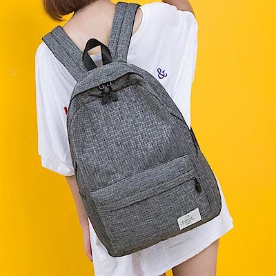 J II後背包 格紋刷色防潑水後背包-6270-2
