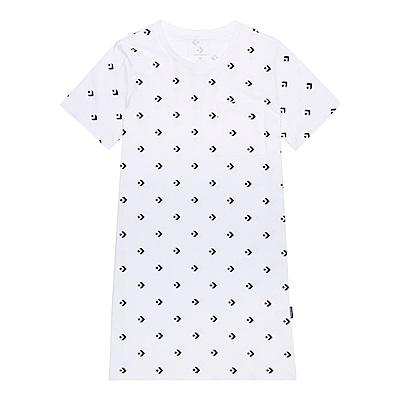 CONVERSE-女短袖連身裙10005815-A02-白