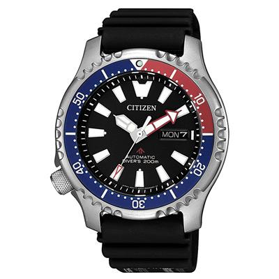CITIZEN 遨遊天地機械腕錶-藍x紅(NY0088-11E)/42mm