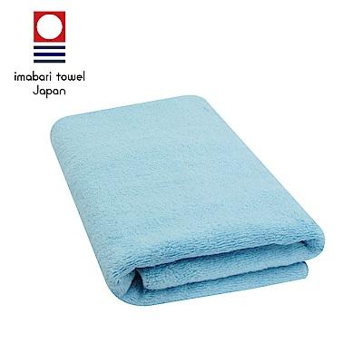 日本今治 輕柔蓬鬆無撚紗素色浴巾(天空藍)