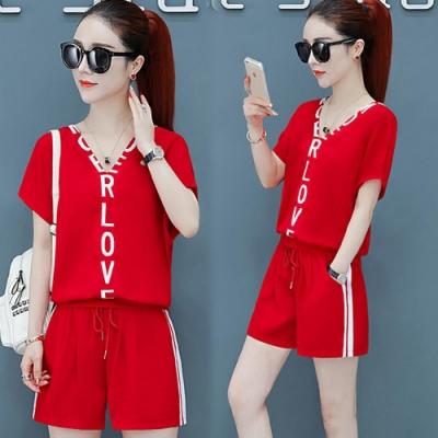 【韓國K.W.】(預購)韓時尚兩面可穿字母V領套裝褲-2色