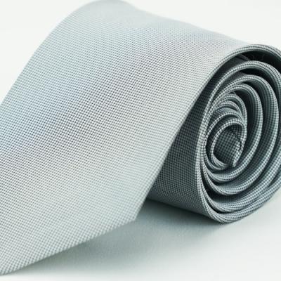 Alpaca 淺灰底黑紋領帶
