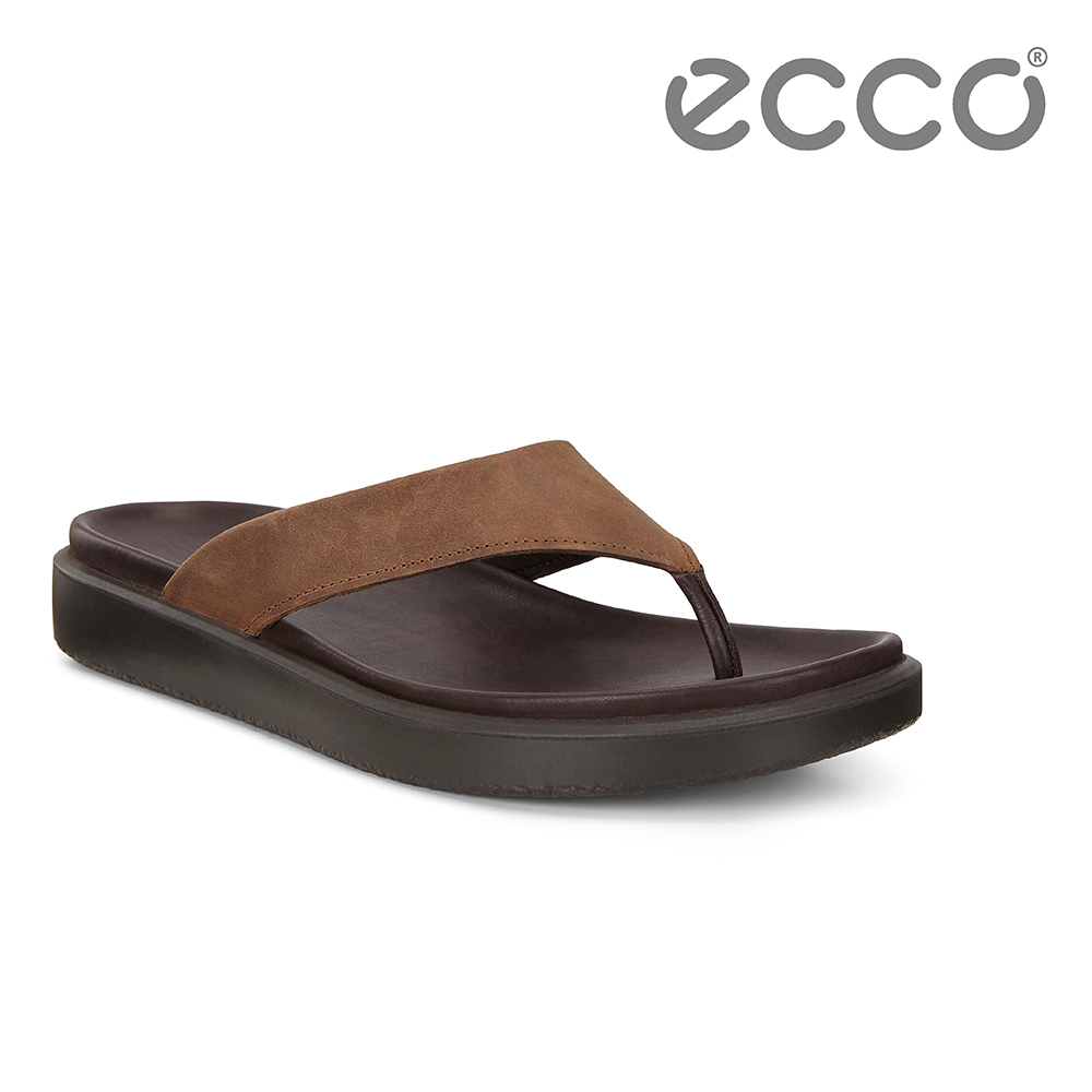 ECCO FLOWT LX M 簡約雅仕休閒人字拖鞋 男-棕色