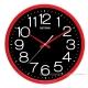 RHYTHM日本麗聲 高CP值現代風超靜音大字黑面壁掛鐘(搖滾紅黑)/36cm product thumbnail 2
